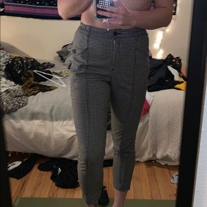 cropped checkered pants